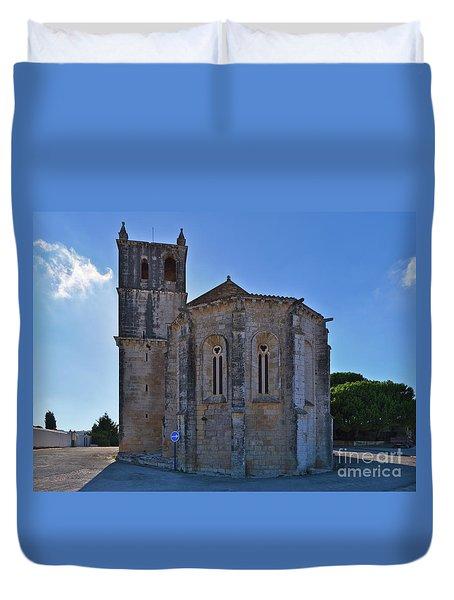 Santa Maria Do Carmo Church In Lourinha. Portugal Duvet Cover
