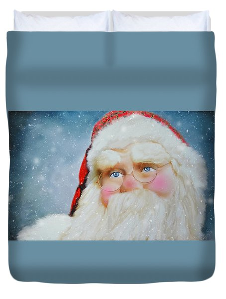 Santa  Duvet Cover by Mary Timman