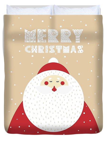 Santa Merry Christmas 2 Duvet Cover