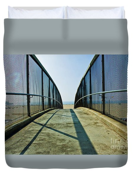 Santa Monica Beach California Duvet Cover