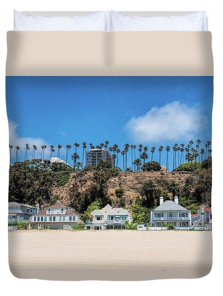 Santa Monica Beach Front Duvet Cover