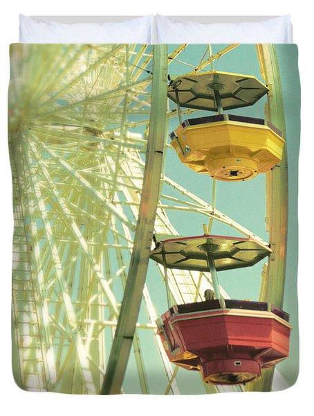Santa Monica Ferris Wheel Duvet Cover