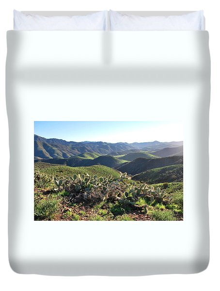 Duvet Cover featuring the photograph Santa Monica Mountains - Hills And Cactus by Matt Harang