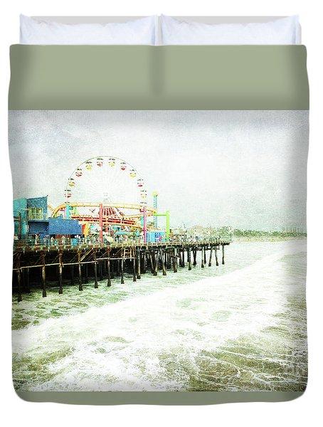Santa Monica Pier Duvet Cover