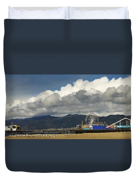 Santa Monica Pier Pan Duvet Cover