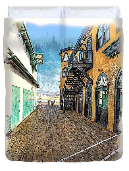 Santa Monica Pier Ver 3 Duvet Cover