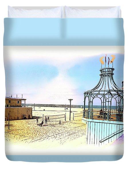 Santa Monica Pier Ver1  Duvet Cover