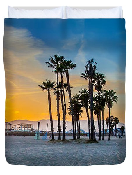 Santa Monica Sunset Duvet Cover
