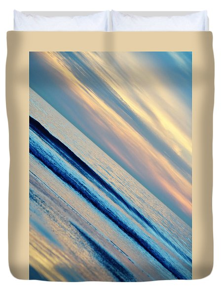 Duvet Cover featuring the photograph Santa Monica Sunset by Kyle Hanson