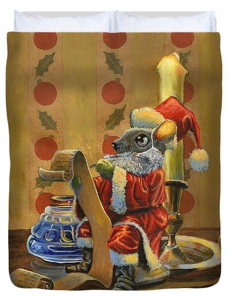 Santa Mouse Duvet Cover