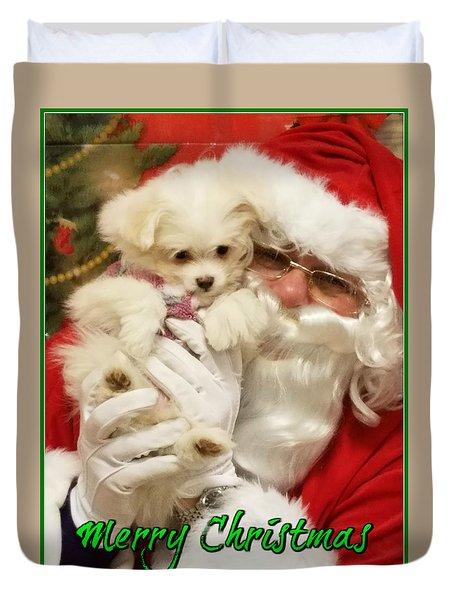 Santa Paws  Duvet Cover