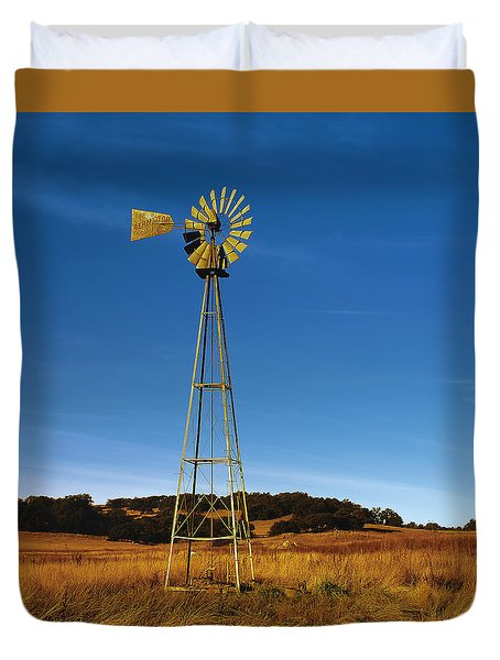 Santa Rosa Plateau Windmill Duvet Cover