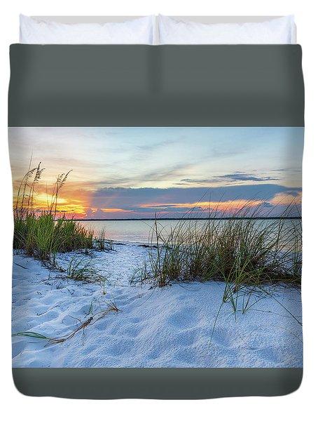 Santa Rosa Sound Sunset Duvet Cover