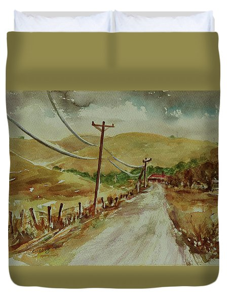 Duvet Cover featuring the painting Santa Teresa County Park California Landscape 3 by Xueling Zou