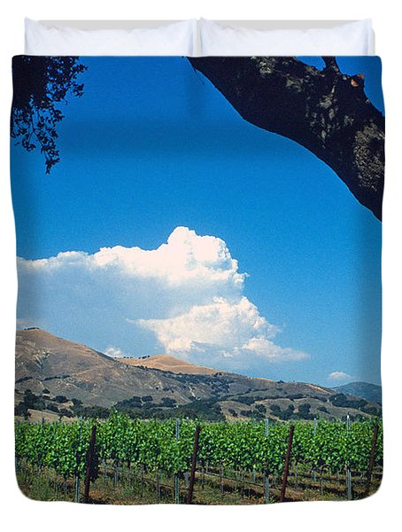 Santa Ynez Vineyard View Duvet Cover by Kathy Yates
