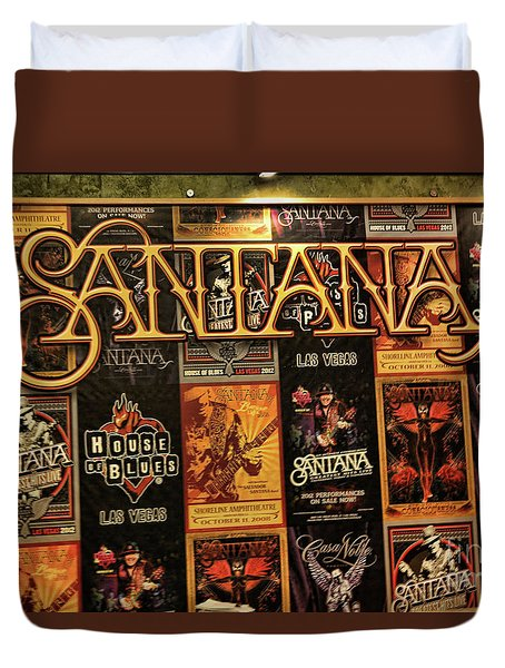 Santana House Of Blues Duvet Cover by Chuck Kuhn
