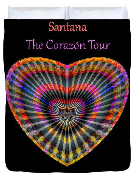 Duvet Cover featuring the digital art Santana The Corazon Tour by Visual Artist Frank Bonilla