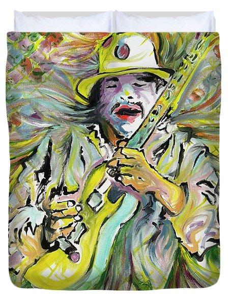 Santana's Sacred Fire Duvet Cover