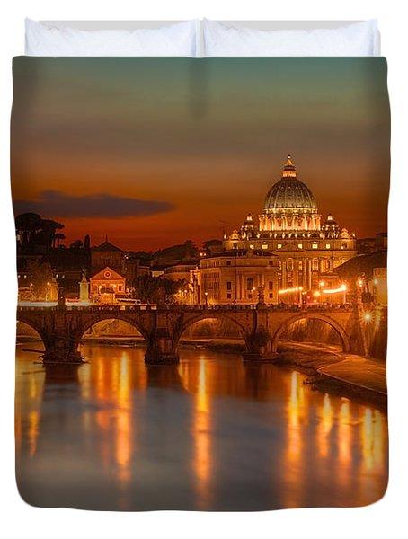 Sant'angelo Bridge Duvet Cover