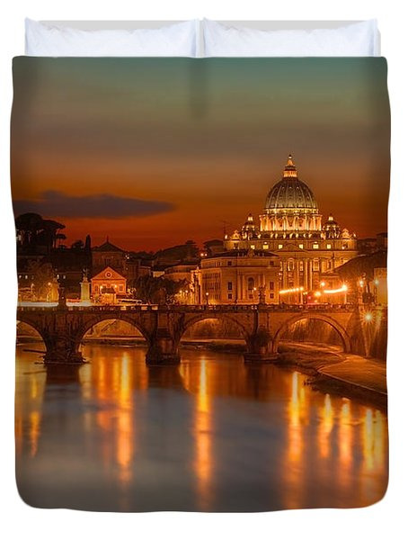 Sant'angelo Bridge Duvet Cover