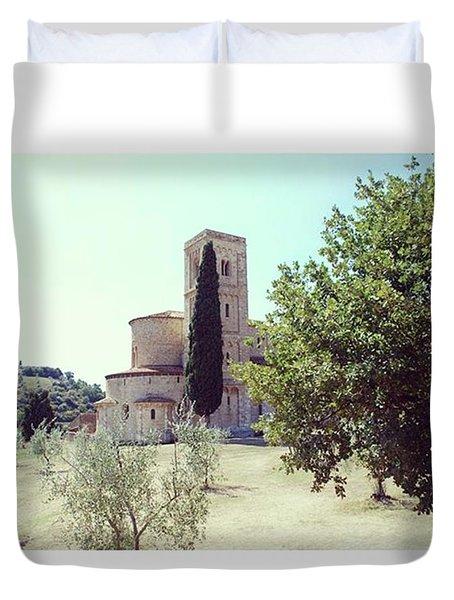 Abbey Of Sant'antimo Duvet Cover