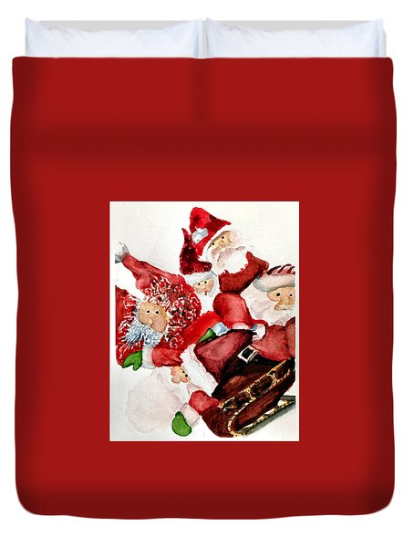 Santas Duvet Cover by Dana Patterson