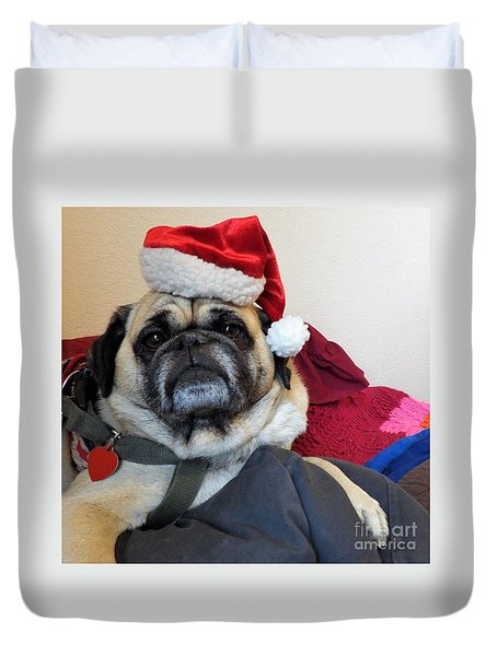 Santas Helper Duvet Cover