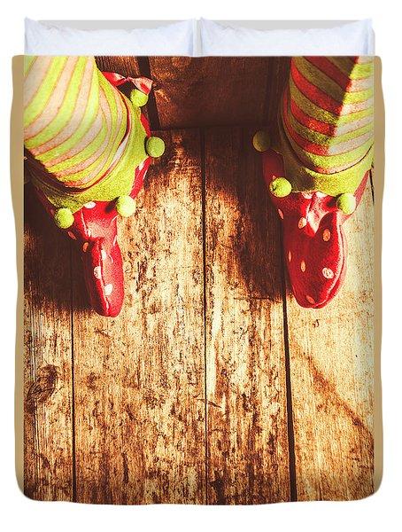 Santas Little Helper Duvet Cover by Jorgo Photography - Wall Art Gallery