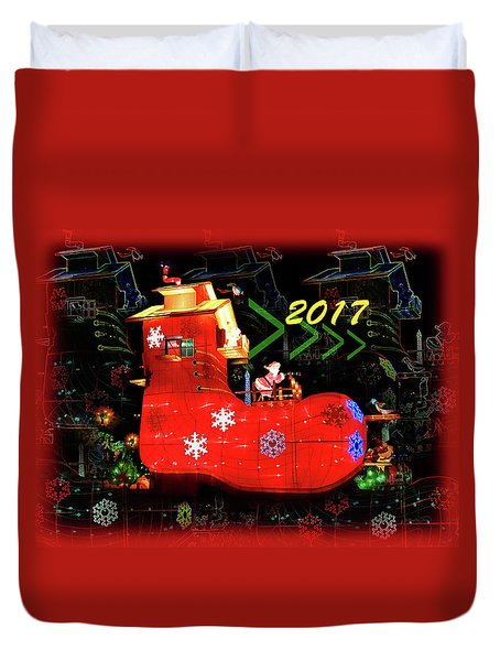 Santa's Magic Stocking Duvet Cover
