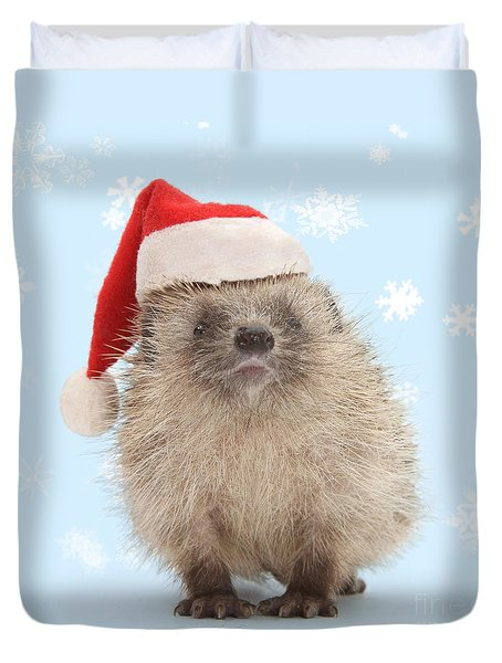 Santa's Prickly Pal Duvet Cover