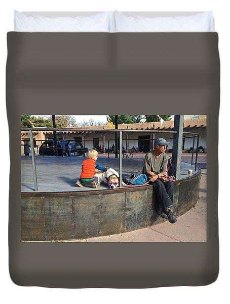 Sante Fe Chill Duvet Cover by Brenda Pressnall