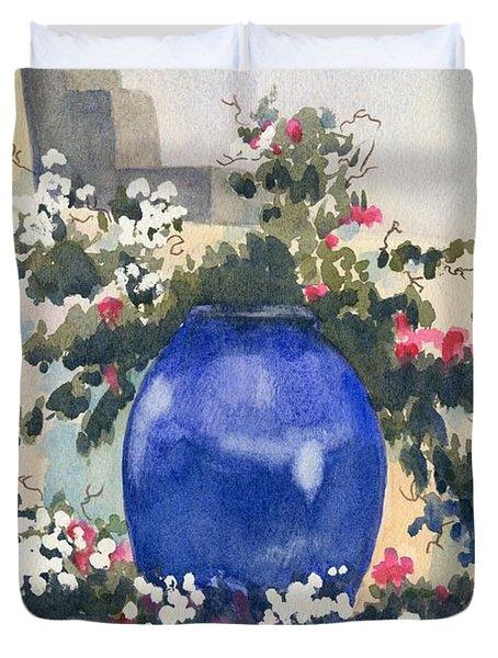 Santorini Blues Duvet Cover