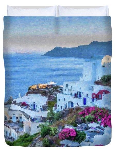 Santorini Greece Dwp416136  Duvet Cover