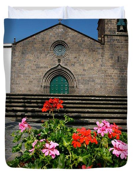 Sao Miguel Arcanjo Church Duvet Cover by Gaspar Avila