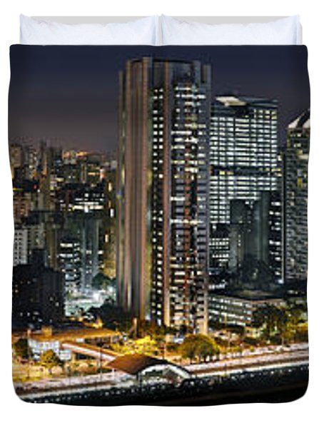 Sao Paulo Iconic Skyline - Cable-stayed Bridge  Duvet Cover
