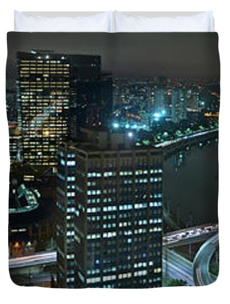 Sao Paulo Skyline Modern Corporate Districts Brooklin Morumbi Chacara Santo Antonio Duvet Cover