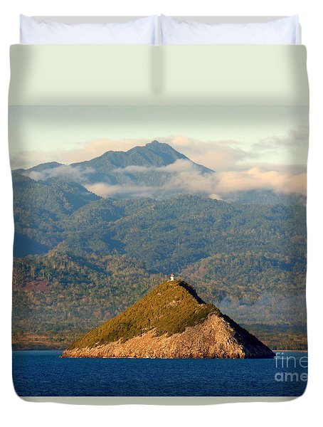 Sao Tome Africa Harbor Duvet Cover