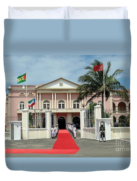 Sao Tome City Hall Duvet Cover