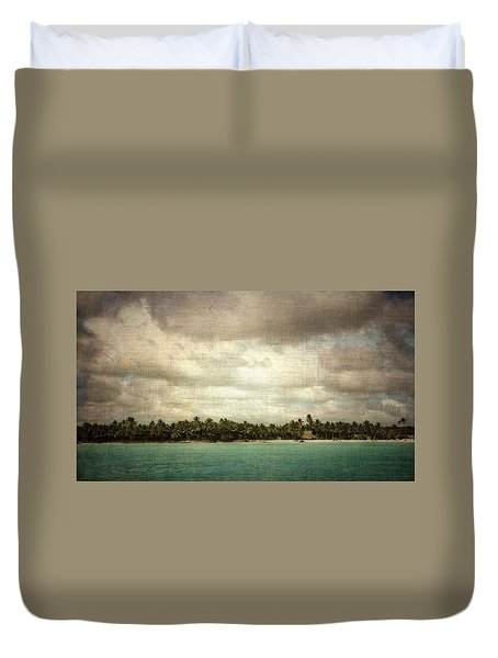 Saona Island , Santo Domingo Duvet Cover