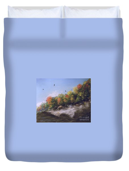 Soaring Over The North Rim, Autumn Duvet Cover