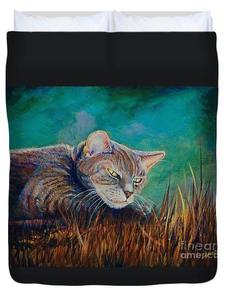 Saphira's Lawn Duvet Cover by AnnaJo Vahle
