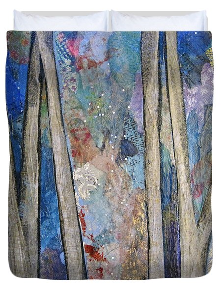 Sapphire Forest I Duvet Cover