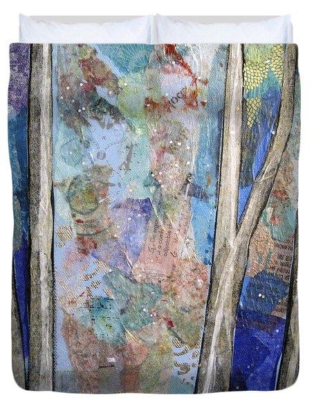 Sapphire Forest II Duvet Cover