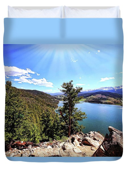 Sapphire Point Wedding Day Duvet Cover by Judy Vincent