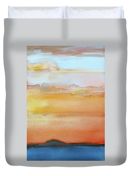 Sapphire Sunrise Autumn Duvet Cover