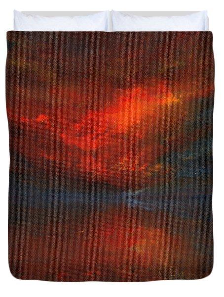 Sapphire Sunset Duvet Cover