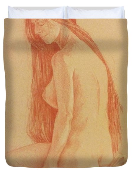 Duvet Cover featuring the painting Sarah #2 by James  Andrews