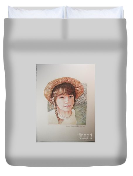 Duvet Cover featuring the painting Sarah by Patricia Schneider Mitchell