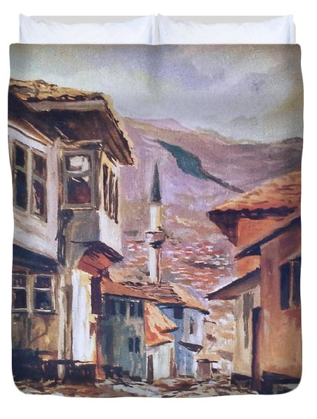 Sarajevo Old Town Duvet Cover