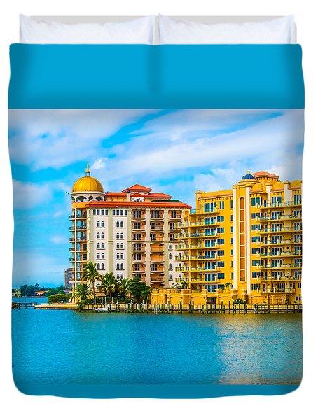 Sarasota Architecture Duvet Cover